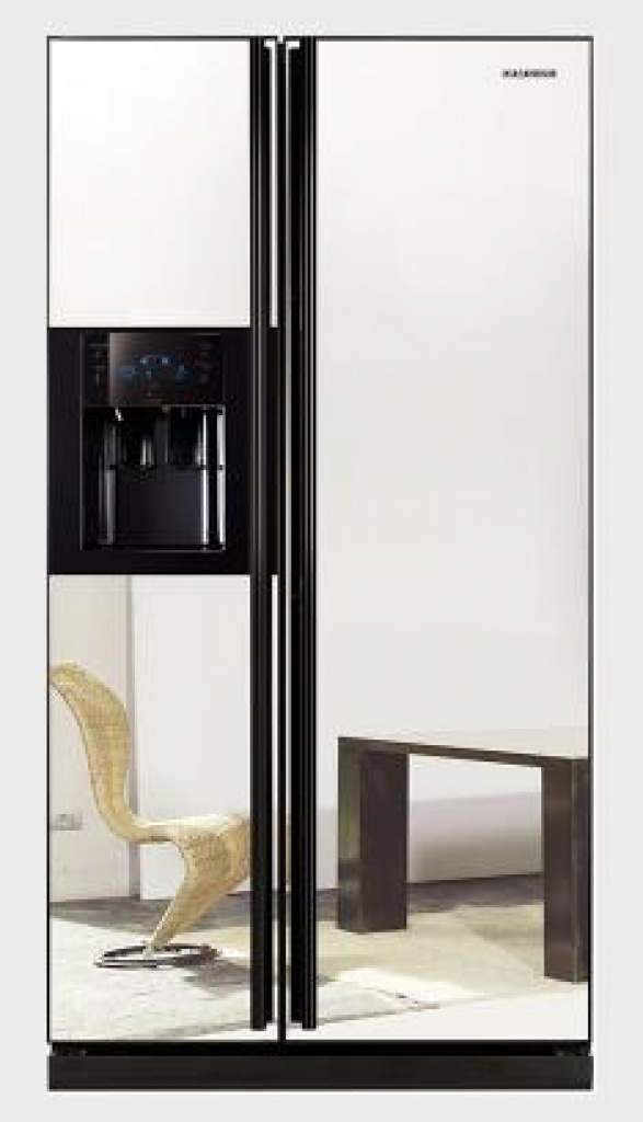 k hlschrank side side modell samsung rsh dlmr mit spiegel t ren neuware. Black Bedroom Furniture Sets. Home Design Ideas